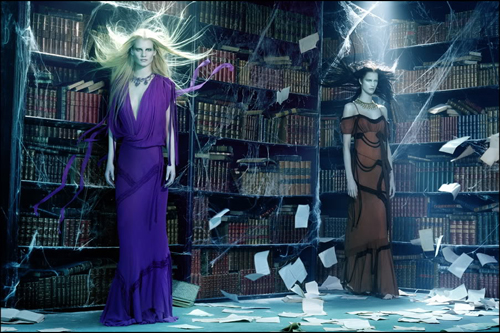 Silence in the Library (Vogue Italia 2009)
