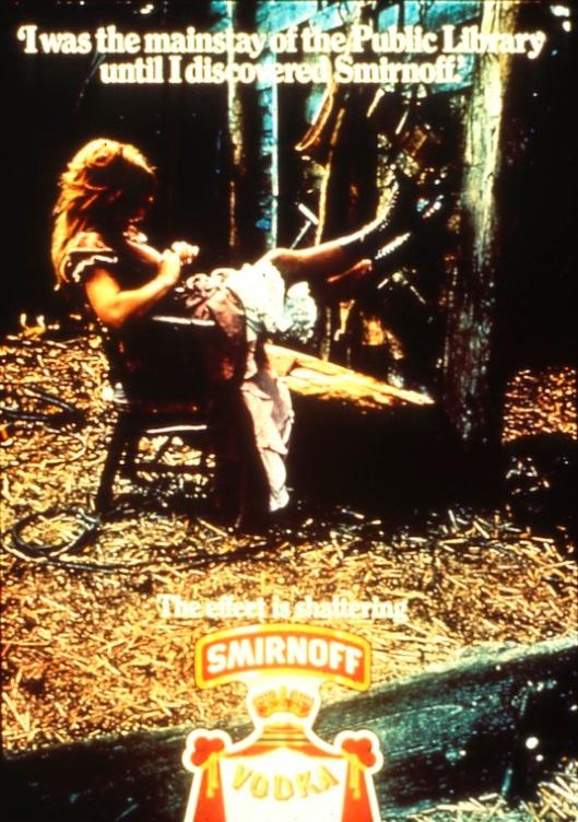 Reclameplaat van Smirnoff whisky uit 1975