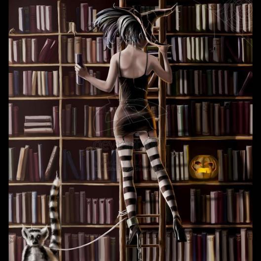Une sorciére bibliothecaire (foto Sara)