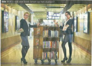 Stationsbibliotheek in Haarlem (Haarlems Dagblad, 22-9-2012)