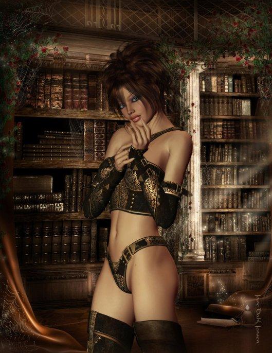 The librarian (Devian Art: Janedj)