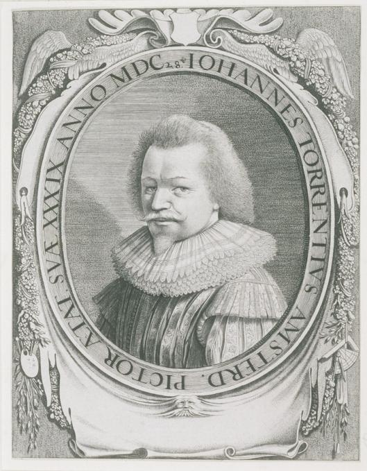 Portretgravure van Torrentius door Jan II van de Velde (1593-1641)