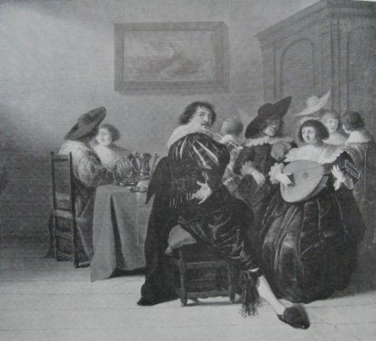 Torrentius in jeugdig gezelschap. Schilderij toegeschreven aan Dirk Hals. Koninklijk Museum Brussel