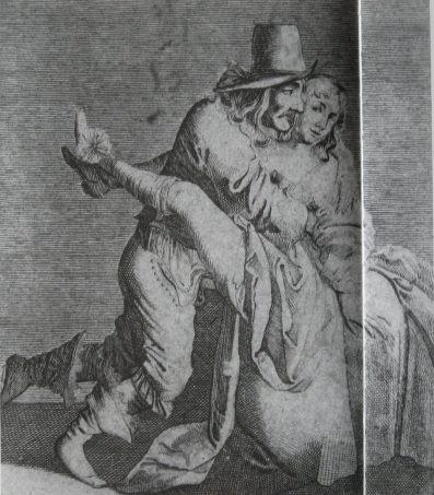 Tekening met erotische voorstelling door Torrentius. Rijksmuseum Amsterdam.