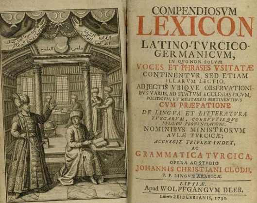 Lexicon van Joh. Christian Clodius uit 1730
