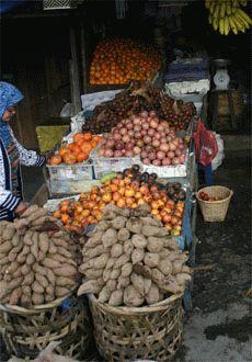 Fruitmarkt in Brastagi