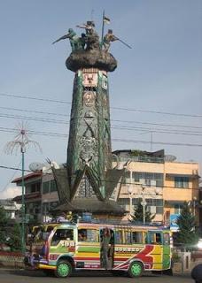 Herdenkingsmonument in Brastagi, Sumatra