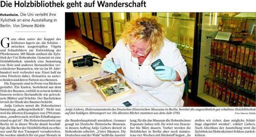 Bericht over expositie van xylotheek Hohenheim in het Duits Historisch Museum in Berlijn