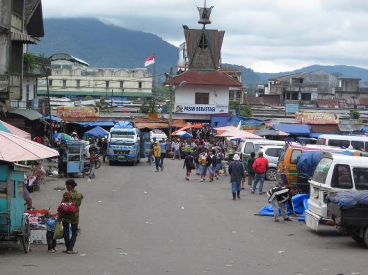 Marktplaats in Berastagi