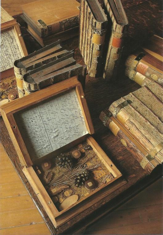 Enkele delen uit de 'bomenbibliotheek' van Frankeker (foto Onno Meeter)