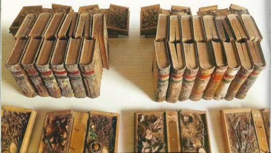 Boeken uit de door collectie in kasteel Guttenberg