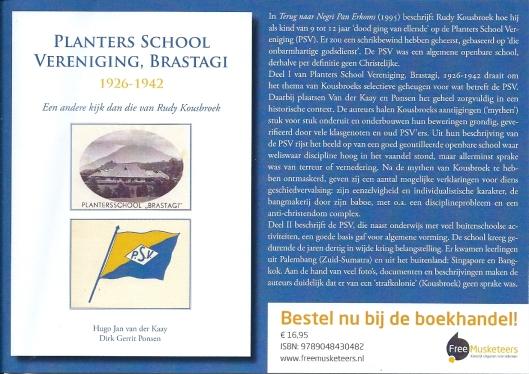 Flyer van nieuw verschenen boek over de Planters School Vereniging in Brastagi
