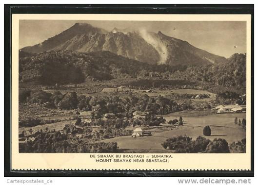 De Sibajak vulkaan nabij Brastagi