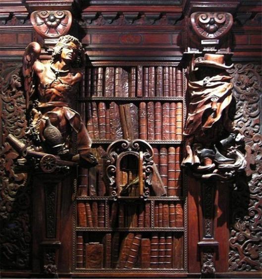 De houten boeken van Francesco Pianta in de Hogeschool van San Rocco, Venetië (foto Rebecca Snyder)