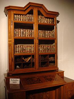 De xylotheek in de Strahov kloosterbibliotheek, Praag, Tsjechië