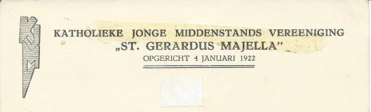 Briefhoofd van St. Gerardus Majella, afdeling Heemstede