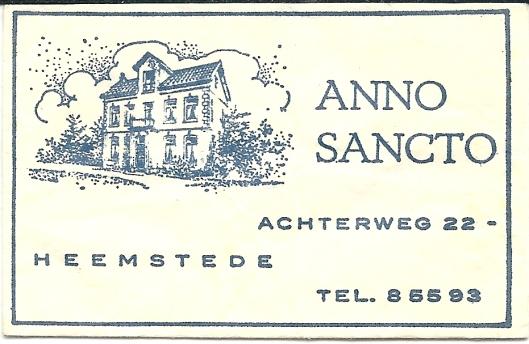 Idem van 'Anno Sancto', voormalig parochiehuis van de O.L.V.Hemenlvaartkerk, Achterweg 22 Heemstede