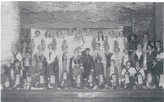 Het St. Agneskoor, een onderdeel van de R.K.Vrouwenbond, voerde tussen 1920 en 1940 jaarlijks een operette op, bijna altijd in het Vereenigingsgebouw. Hier een afbeelding van de 'Fee van de Bron' in 1936 opgevoerd onder leiding van mejuffrouw Kruydenberg uit Hillegom.