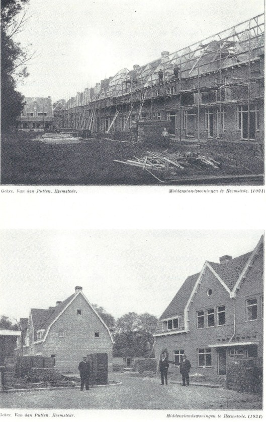 Bouw van de huizen op het voormalig feestterrein (in Bosboom Toussaintlaan, Nic. Beetslaan, Nic. Beetsplein en deel Wilhelminaplein) door aannemer Van den Putten in 1921