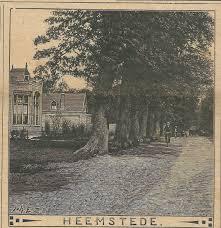 Het Vereenigingsgebouw aan de westzijde van de Herenweg op een houtgravure van de firma Enschedé uit 1910.