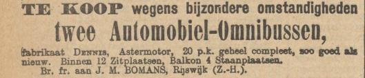 J.M.Bomans als bestuurder van de bouwontwikkelingsmaatschappij 'Essenburg' te Rotterdam (Nieuws van den Dag, 23-2-1906)