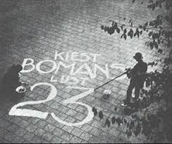 Straatpropaganda voor Bomans