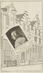 Hendrik Busserus 'Konstminaer. Geb. den 22 January Ao 1701. Hk van Hilten fecit 1773  [Voor het huis van Busseris aan de Haarlemmerdijk, Amsterdam].