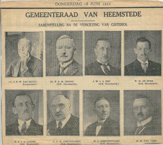 Gemeenteraadsleden Heemstede (1931-1935) (1)