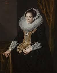 Portret van Johanna Martens (1599-1639), echtgenote van Anthony van Hilten, door Paulus Moreelse (Centraal Museum Utrecht).