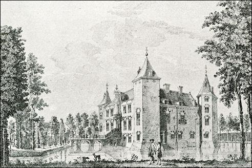 Kasteel Nederhorst; tekening door Jan de Beijer, 1760