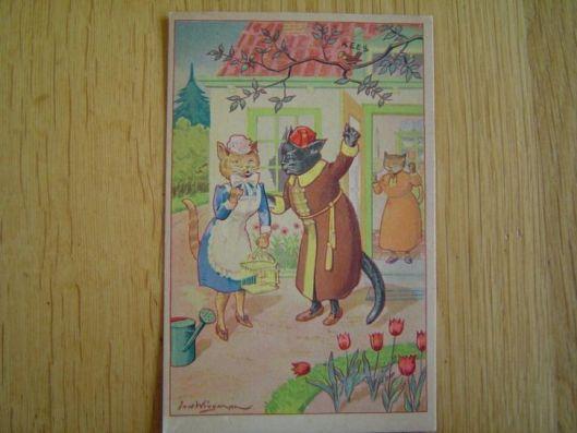 Jan Wiegman: poezenkaart, 1946