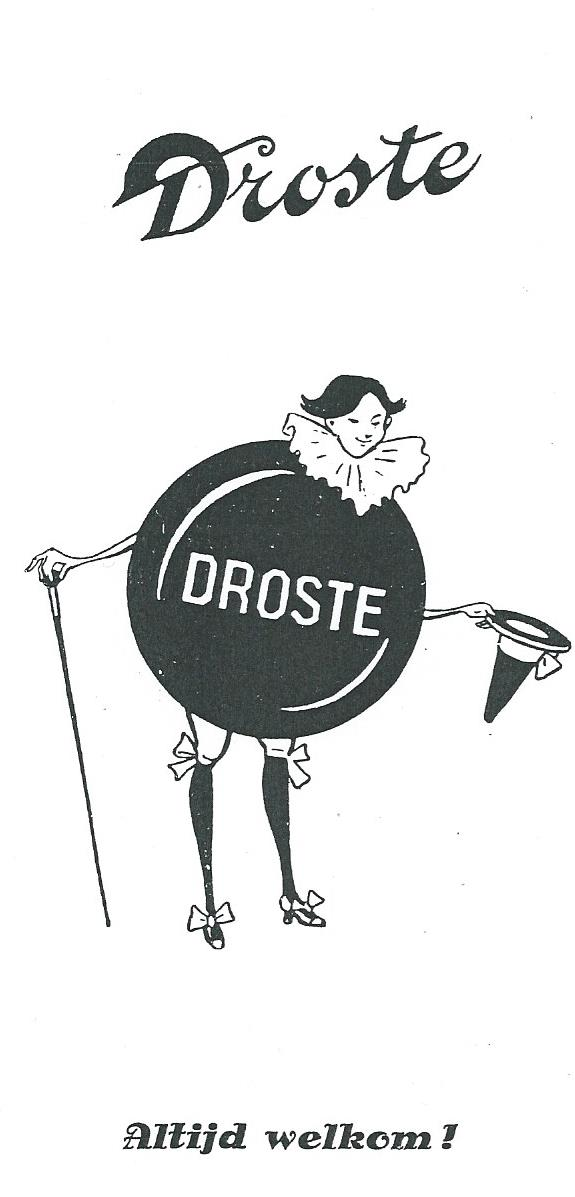 Het oorspronkelijk voor Droste door Jan Wiegman getekende pastille-mannetje