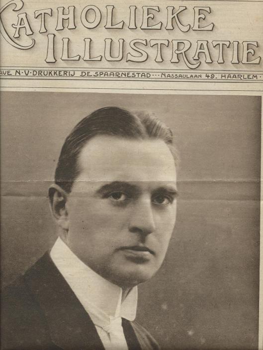 Mr.J.B.Bomans 'met witte das' op de voorzijde van Katholieke Illustratie