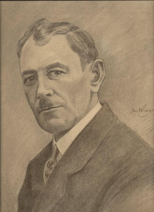 Portret van de heer Strating uit Heemstede door Jan Wiegman, 1934