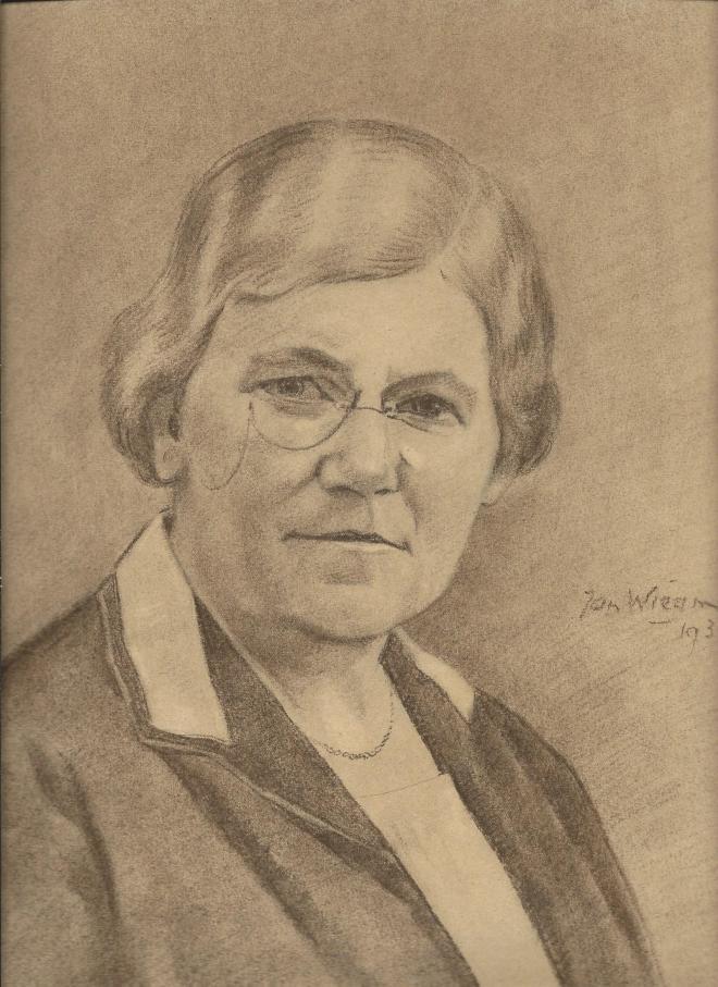 Portret van mevrouw Strating, dioor Jan Wiegman, 1934