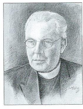 Pastoor A. van Noort van de O.L.V.Hemelvaartparochie in Heemstede, getekend door Jan Wiegman.