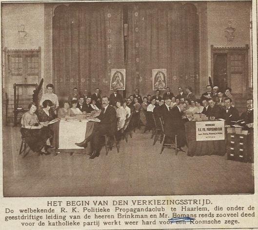 Verkiezingsstrijd. Uit: Katholieke Illustratie 1922