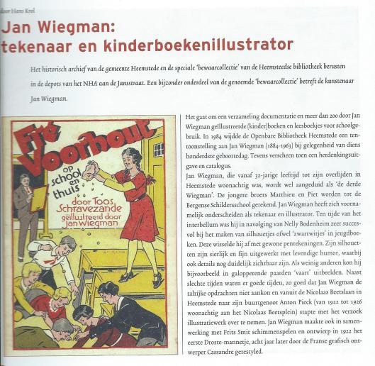 Jan Wiegman, uit: NHA Nieuws, juni 2006