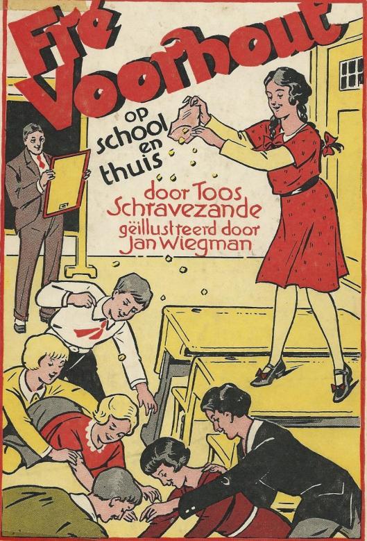 Ill. van Jan Wiegman, bij 'Fré Voorhout op school en thuis' door Toos Schravezande.