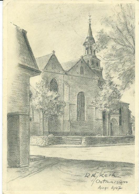Jan Wiegman, R.K.kerk Ootmarsum, 1947.