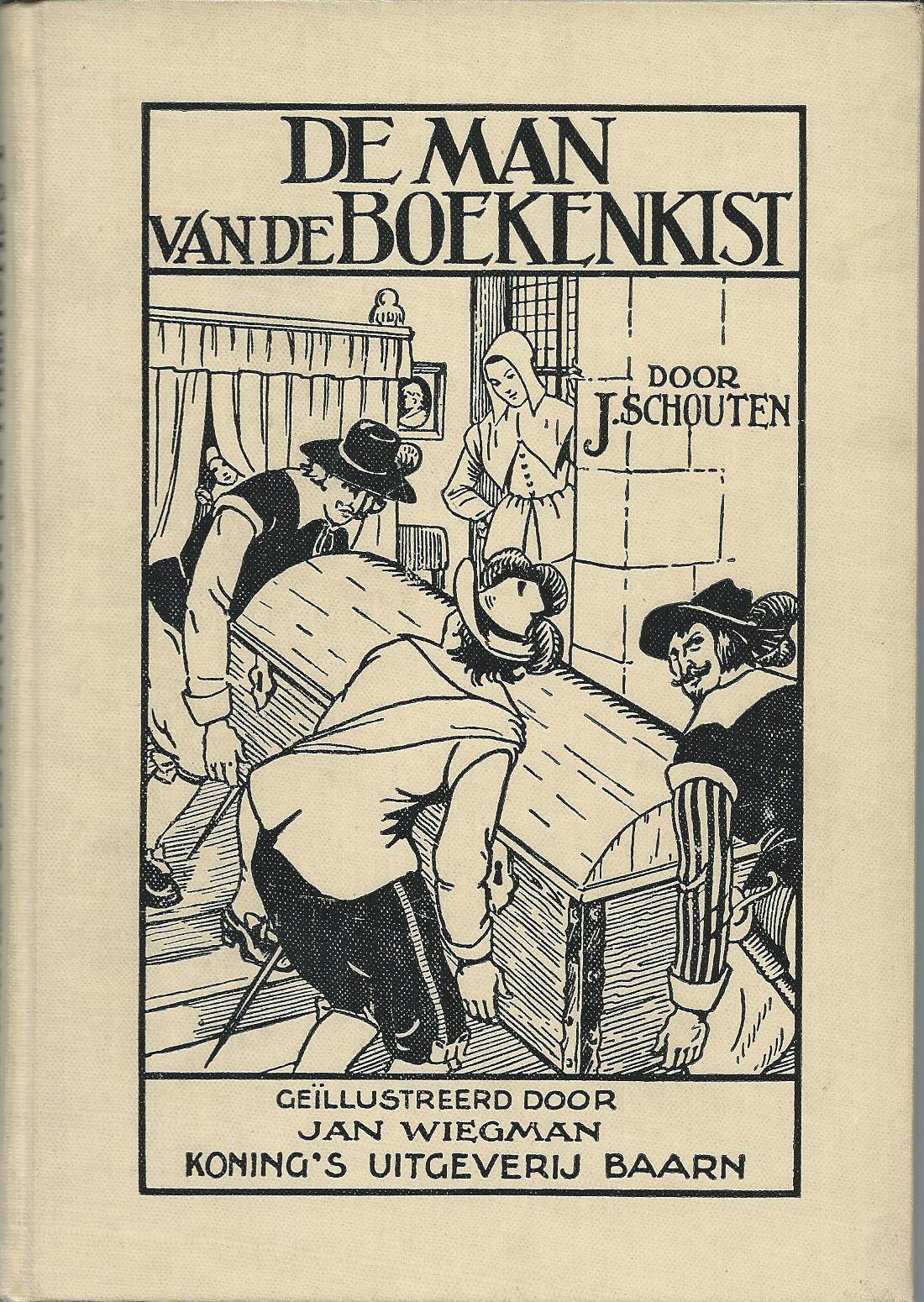 Jan Wiegman, ill. bij 'De man van de boekenkist' door J.Schouten.