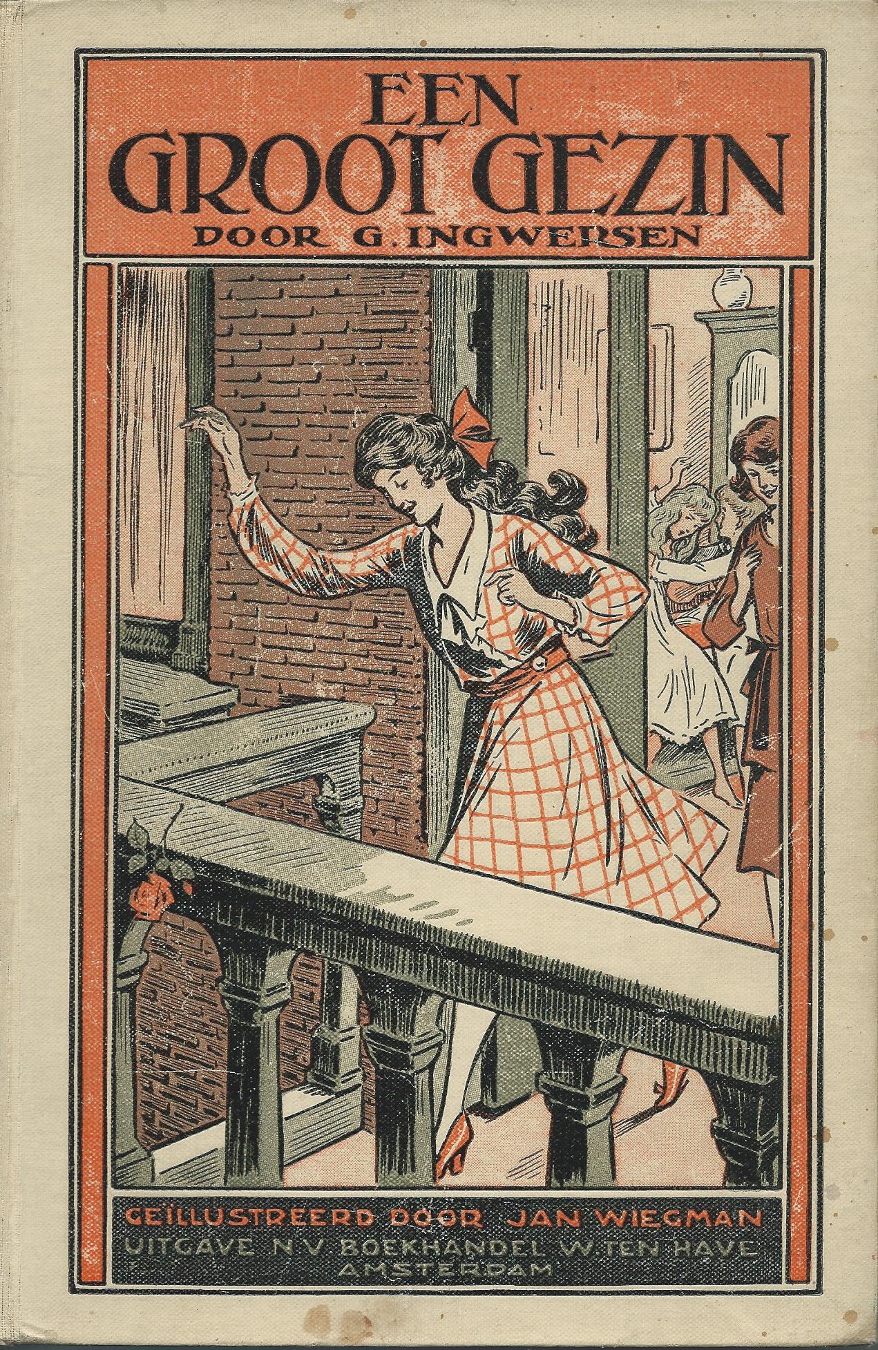 Ill. van Jan Wiegman, bij 'een groot gezin' door G.Ingwersen
