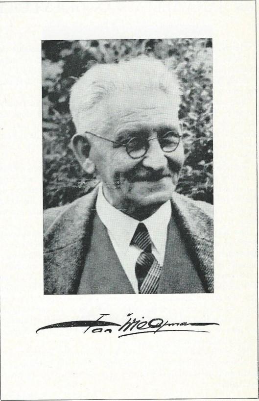 Jan Wiegman op latere leeftijd