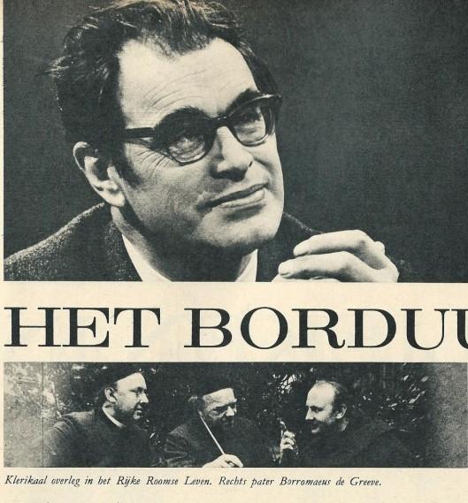In het jubileumnummer van 100 jaar de Katholieke Illustratie bam 10 december 1966 publiceerde Godfried Bomans een artikel'De achterkant van het borduurwerk met herinneringen aan pater Borromaeus de Greeve.