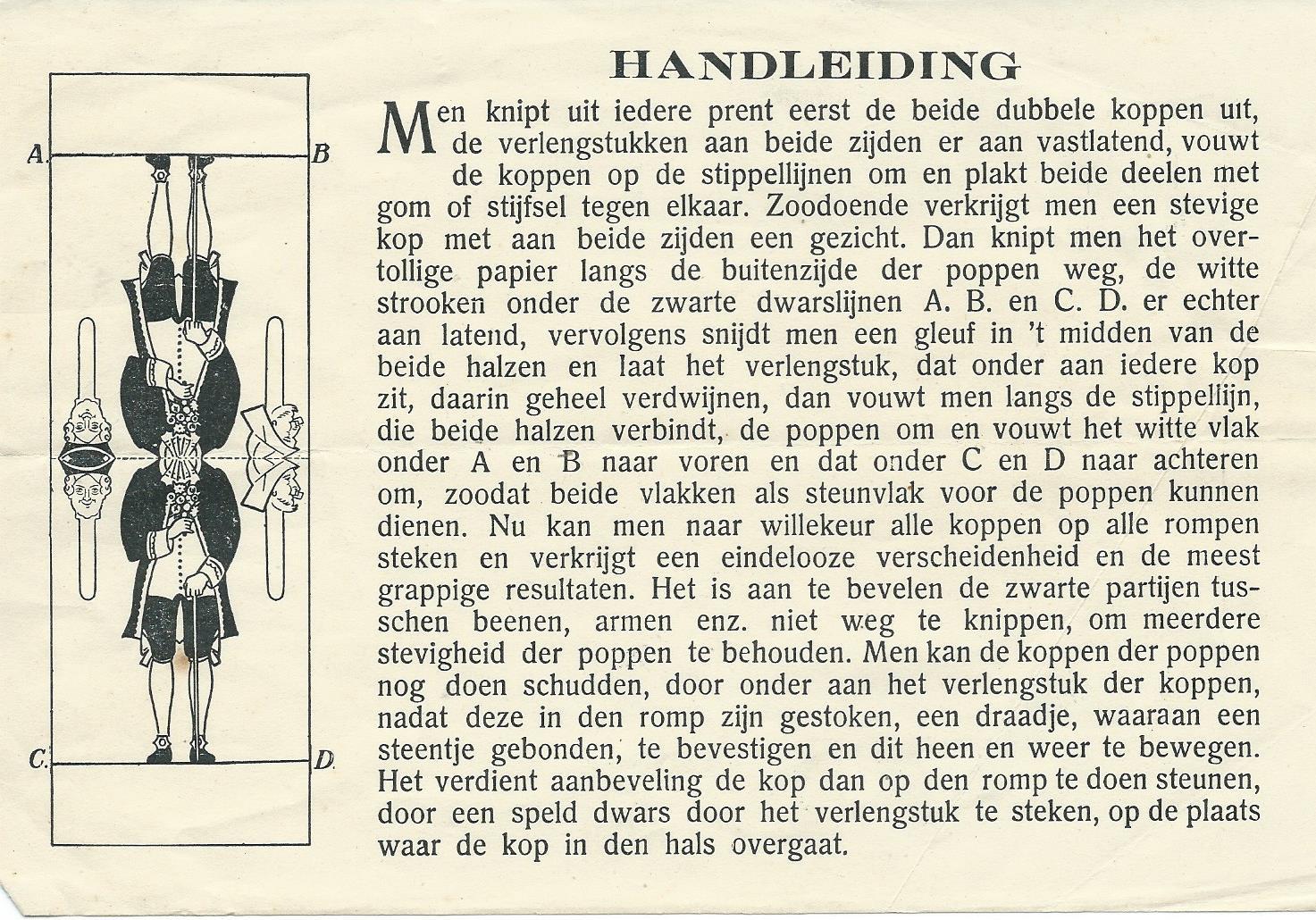 Handleiding bij Poppen van Jan Wiegman: de familie Schuddebol