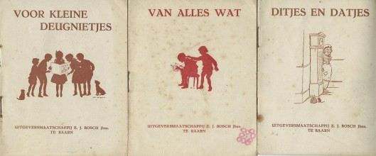 3 boekjes met versjes en illustraties van Jan Wiegman