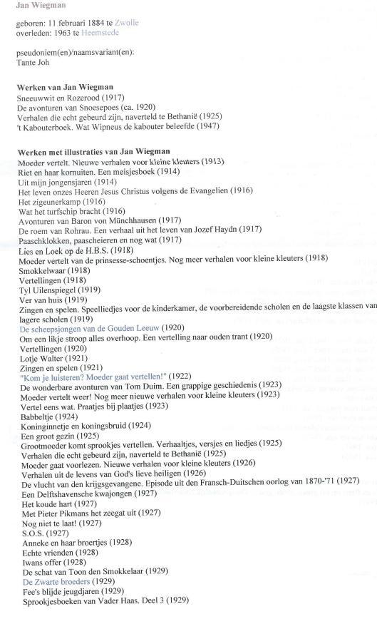 Jan Wiegman in DBNL (1)