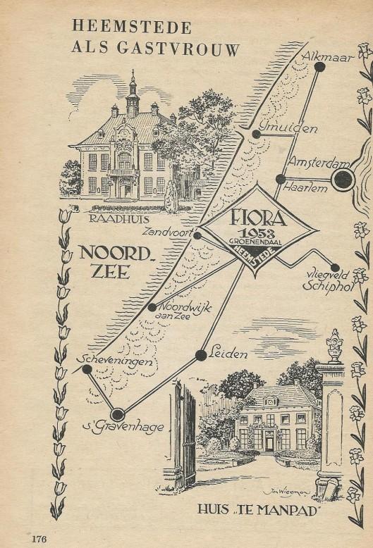 Illustratie door Jan Wiegman uit: Flora gids Heemstede 1953