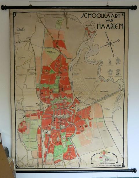 Schoolkaart van Haarlem doore Jan Wiegman (foto F.van Spanje)