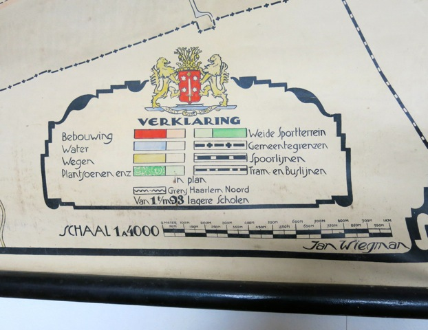 Verlaring Schoolkaart van Haarlem door Jan Wiegman (foto F,van Spanje)